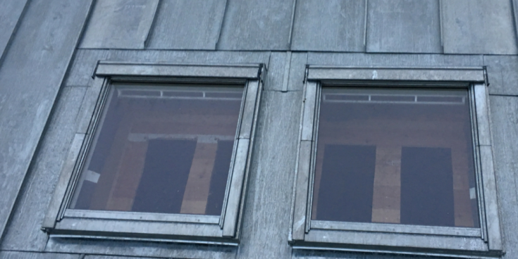 Appartement Dordrecht, zink in felssysteem